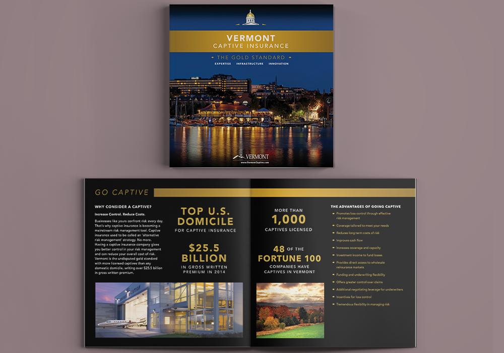 Vermont Captive Insurance Brochure Design