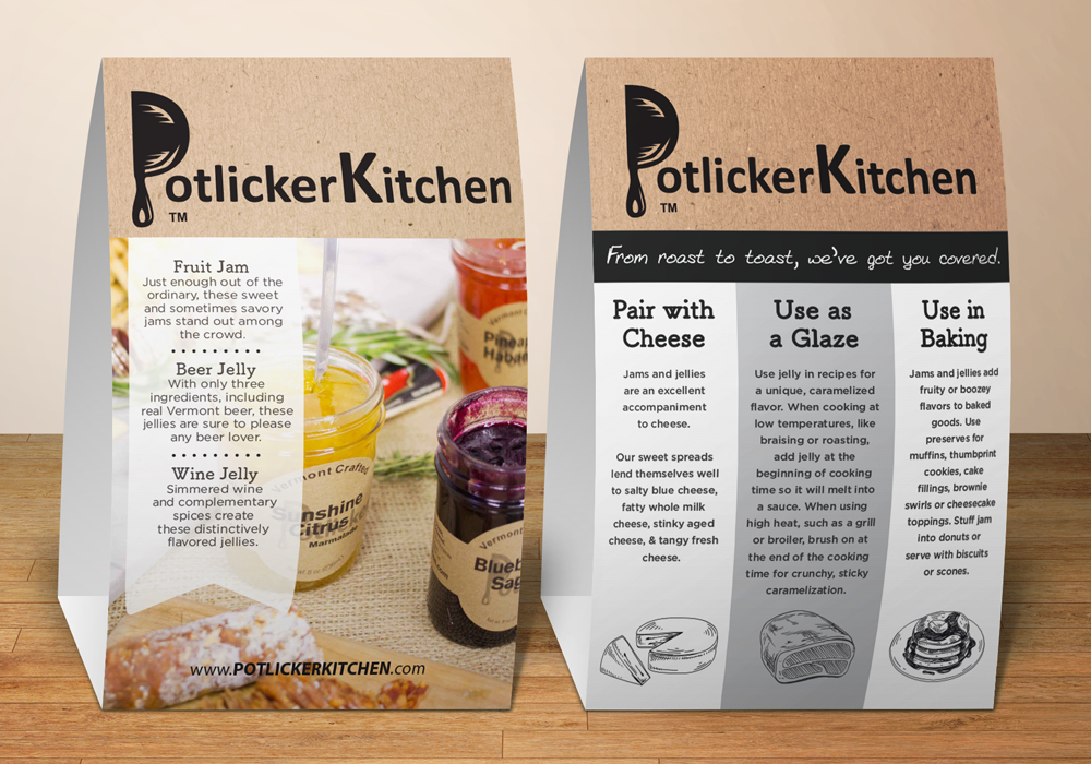 Potlicker Table Tent Design