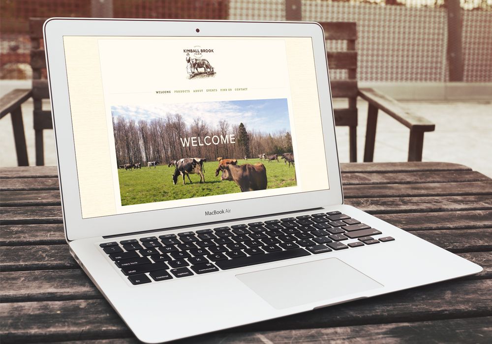 Kimball Brook Farm Responsive Website Design