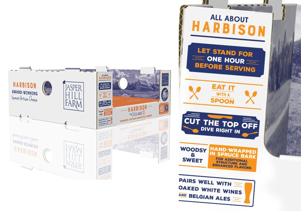 Jasper Hill Farm Cheese Display Package Design