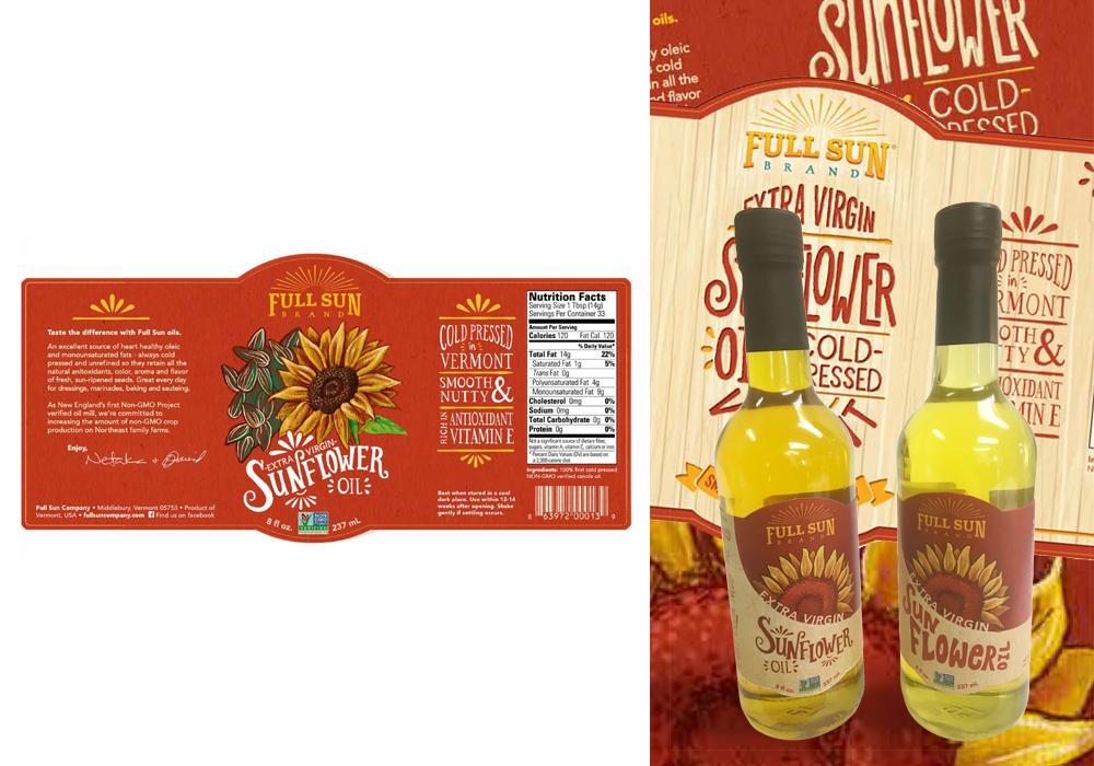 Full Sun Sunflower Oil Package Design