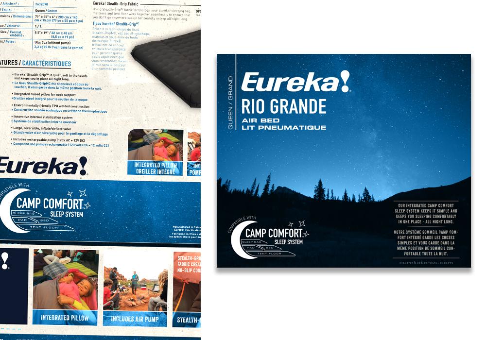 Eureka Rio Grande Air Bed Package Design