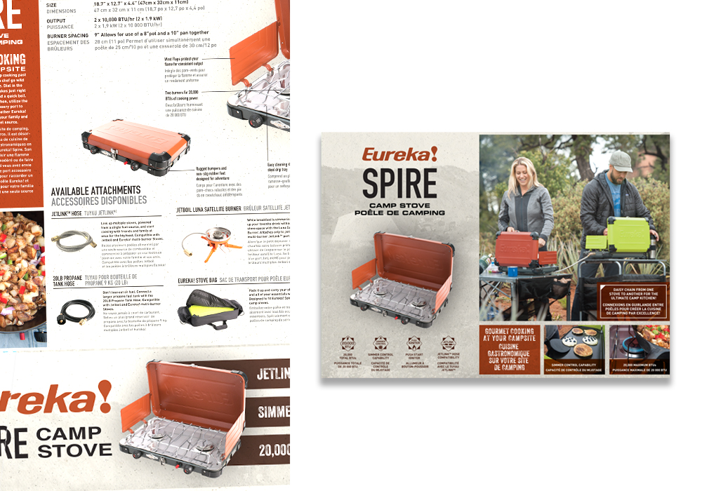 Eureka Spire Camp Stove Package Design
