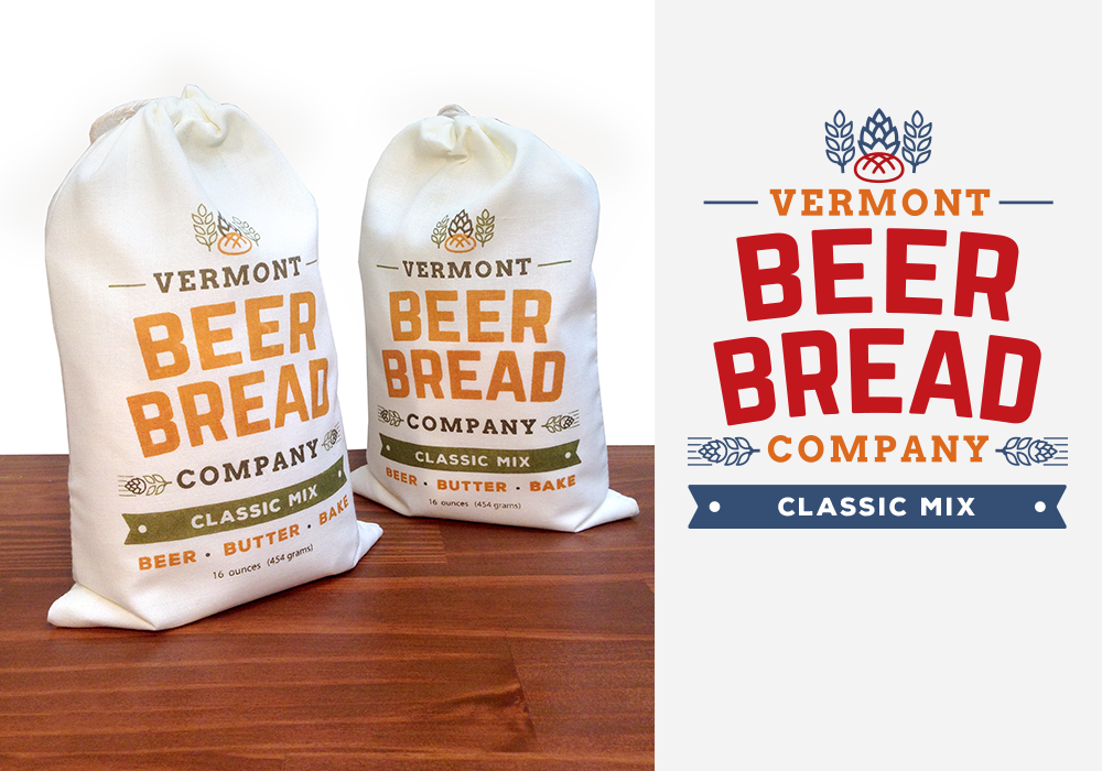 Vermont Beer Bread Company Classic Mix Package Design