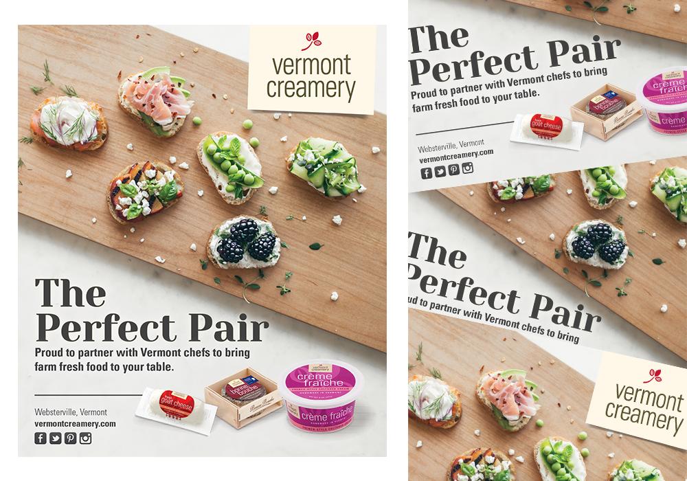 Vermont Creamery Recipe Pairing Ad Design