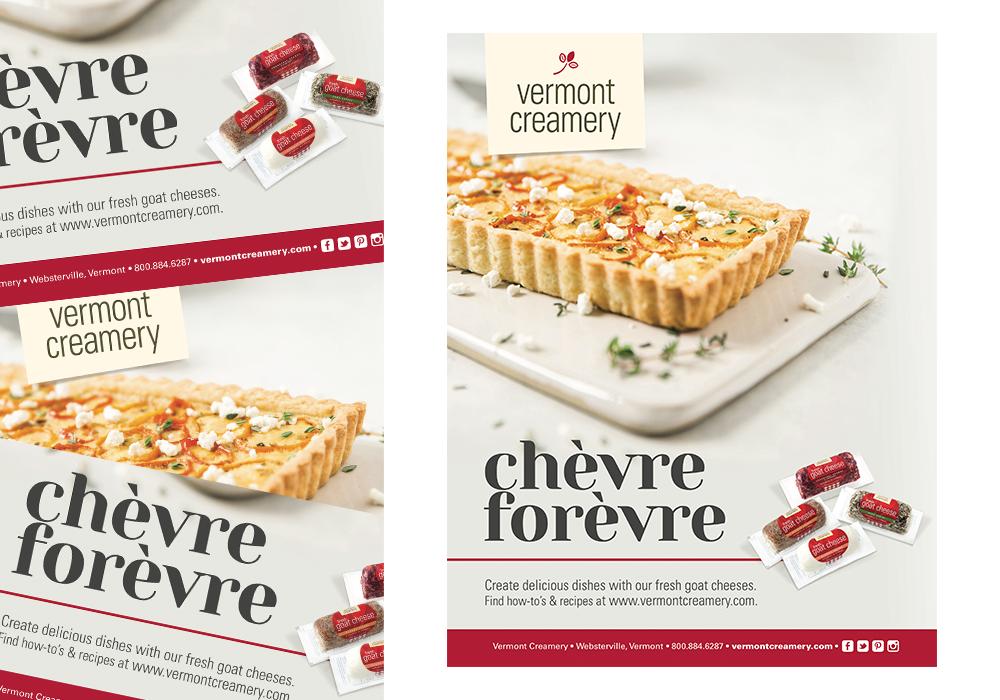 Vermont Creamery Fresh Goat Cheese Ad Design