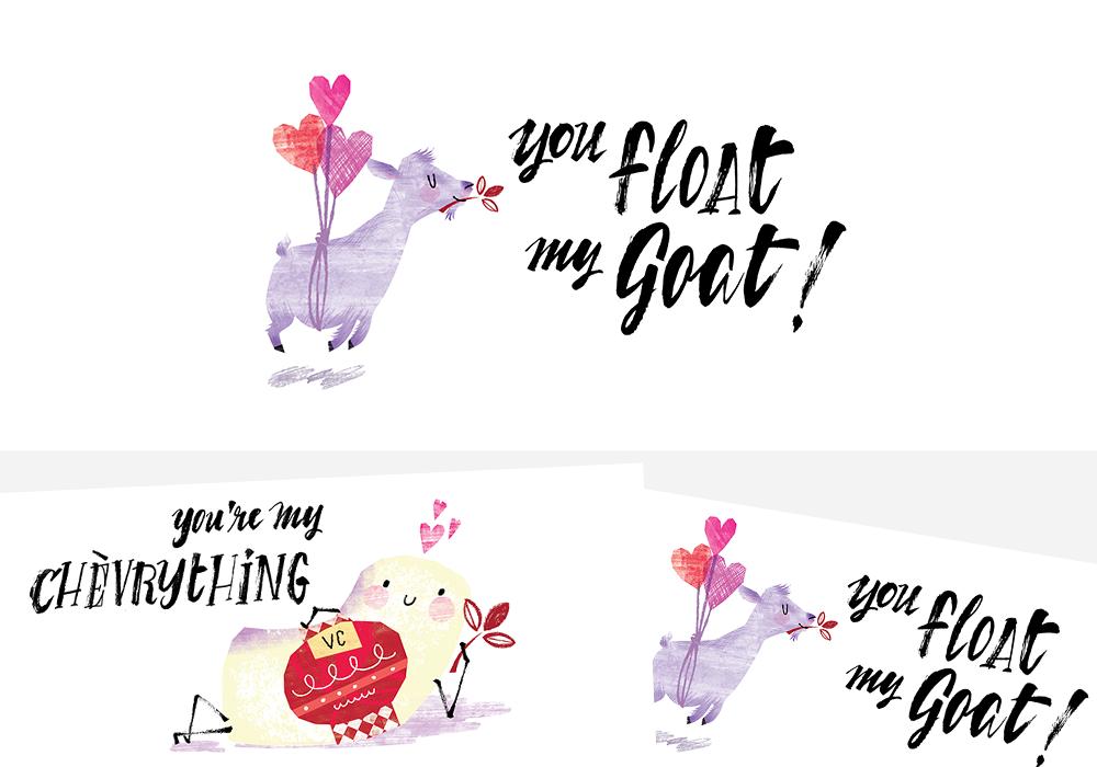Vermont Creamery Valentine's Day Cards