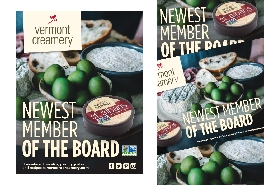 Vermont Creamery St Albans Cheese Ad Design