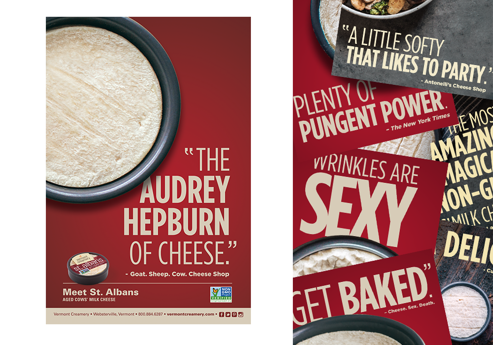 Vermont Creamery Poster Print Design