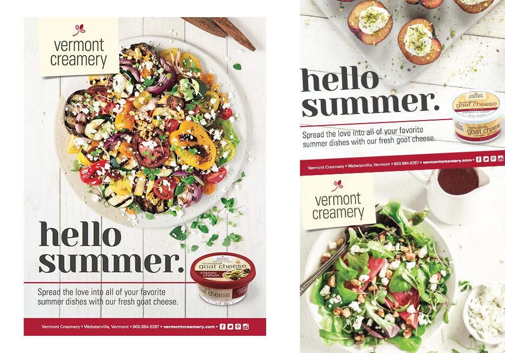 Vermont Creamery Hello Summer Poster Series