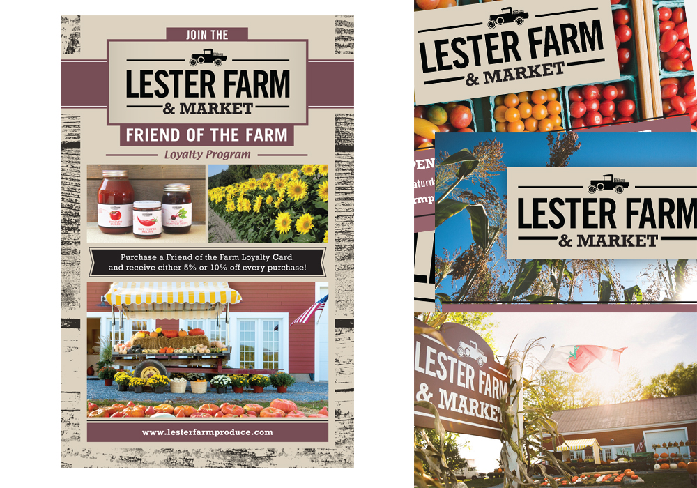 Lester Farm Market Ad Print Design
