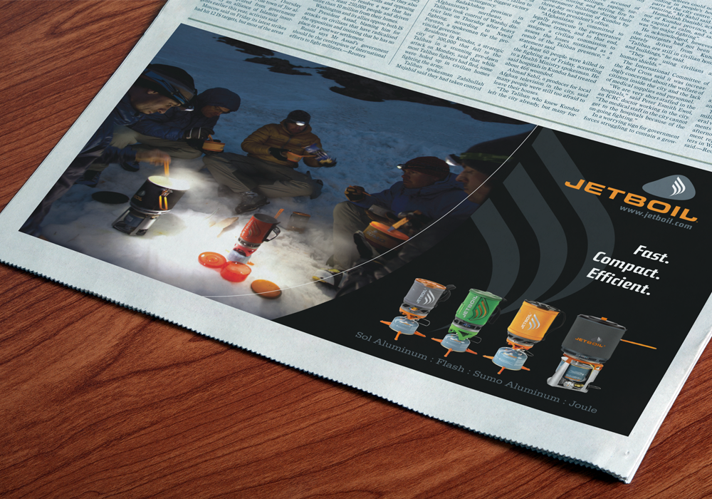 Jetboil Print Ad Design