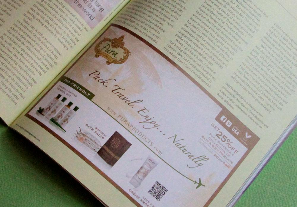 Pura Botanica Print Ads Design