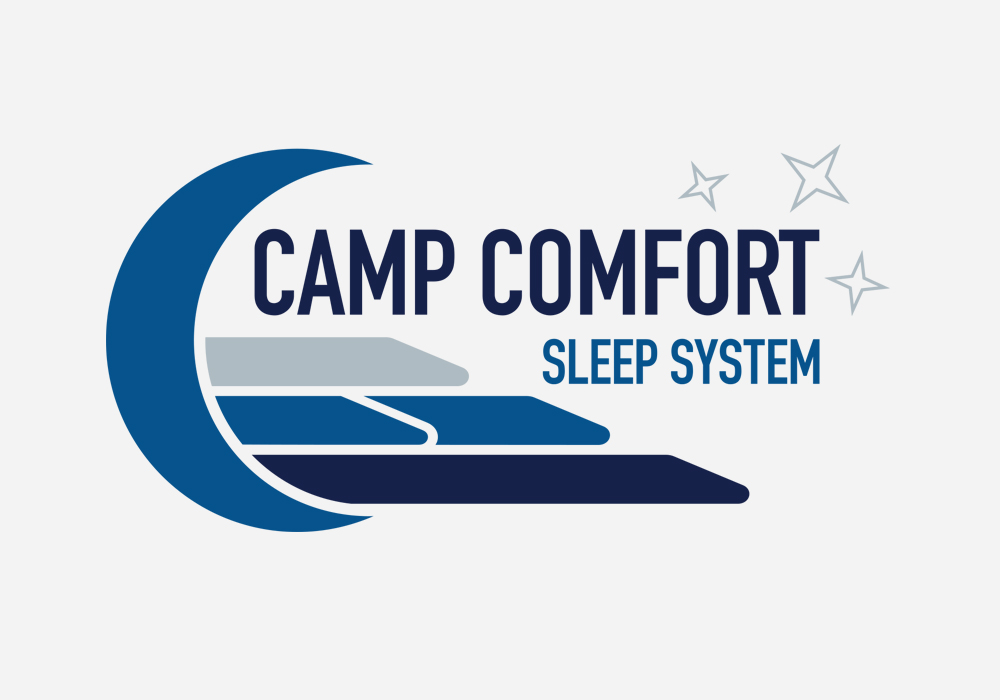 Camp Comfort Sleep System Logo Design