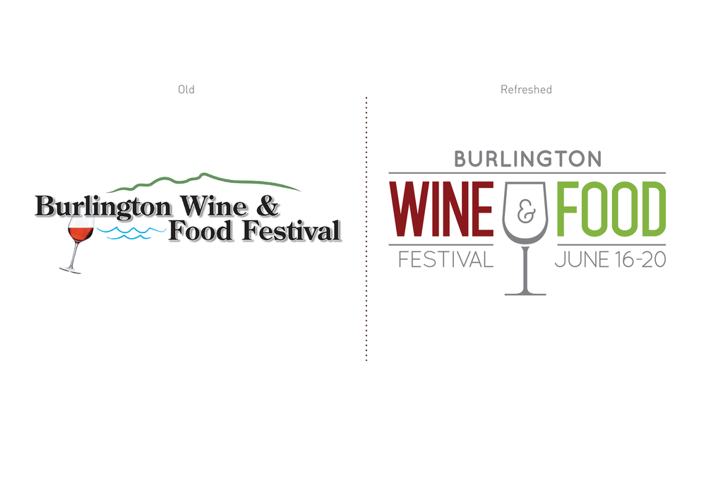 Burlington Wine and Food Festival Logo Design