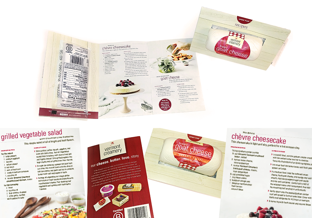 Vermont Creamery Point of Sale Cheese Package Design