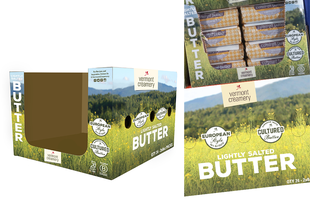 Vermont Creamery Butter Box Design