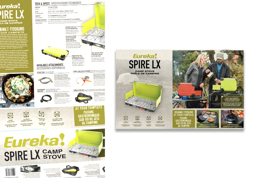 Eureka Spire LX Camp Stove Package Design
