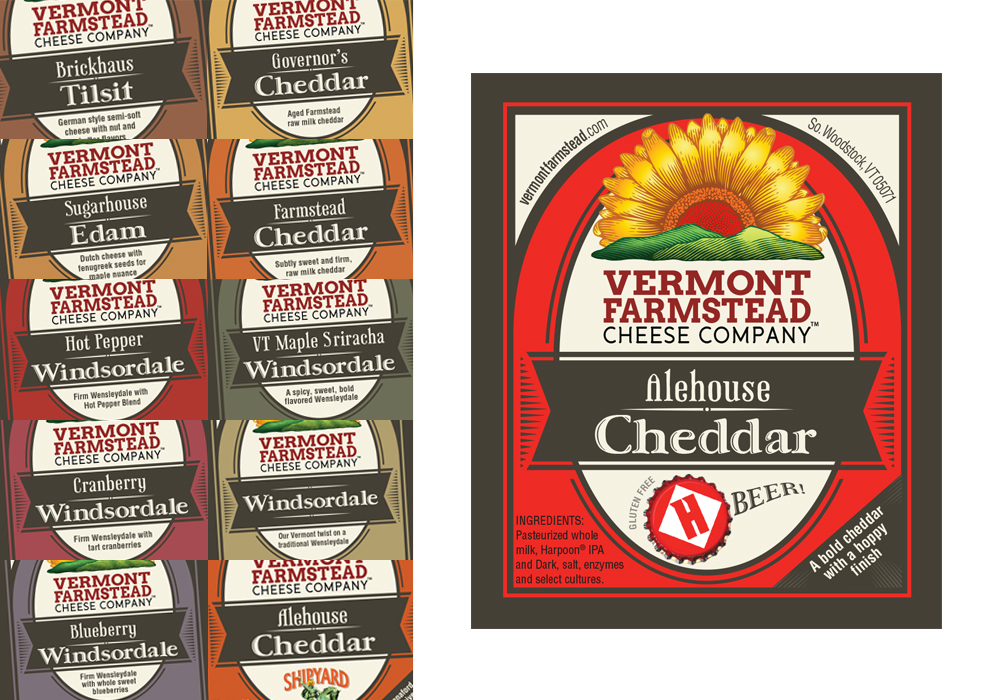Vermont Farmstead Cheese Company Package Design