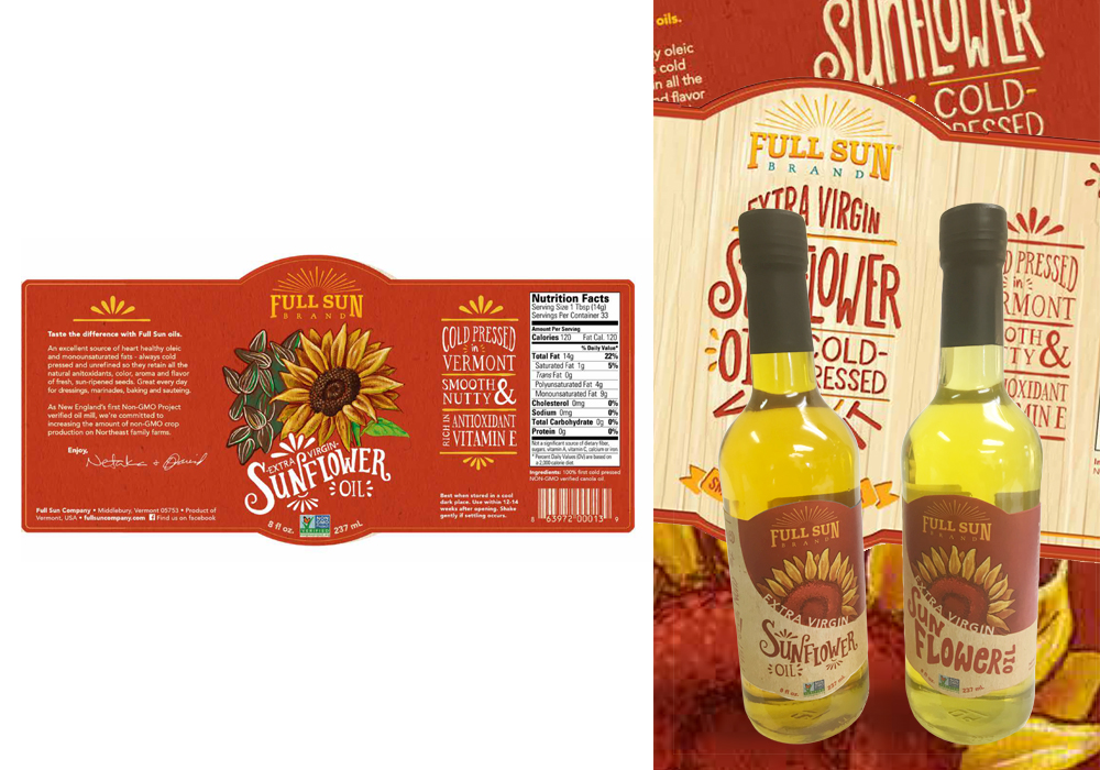 Full Sun Sunflower Oil Package Design