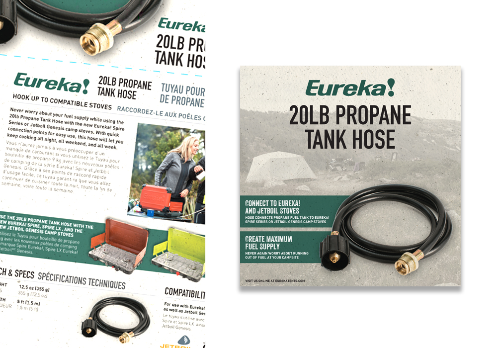 Eureka Propane Tank Hose Package Design