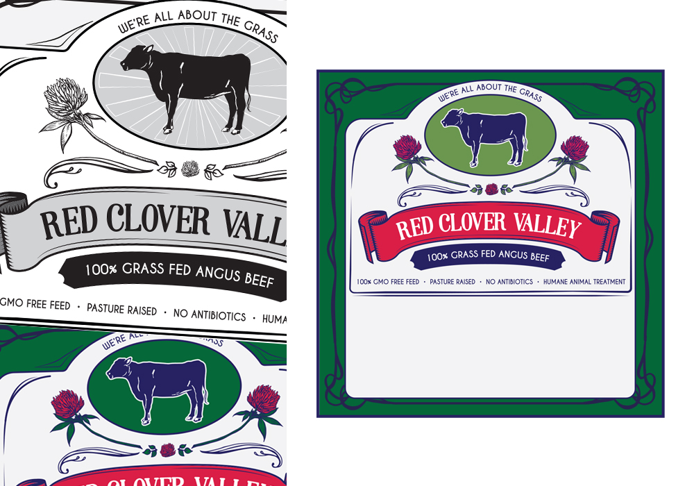 Red Clover Valley Label Design