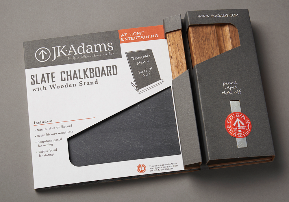 J.K. Adams Die-Line Packaging Design