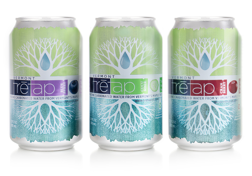 TreTap Beverage Package and Label Design
