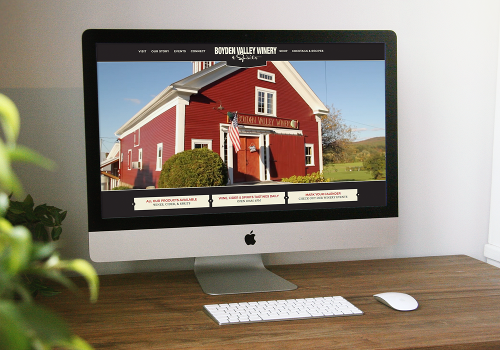 Boyden Valley Winery E-Commerce Website Design