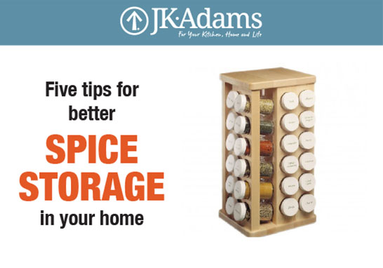 J.K. Adams Spice Storage Food Blogging
