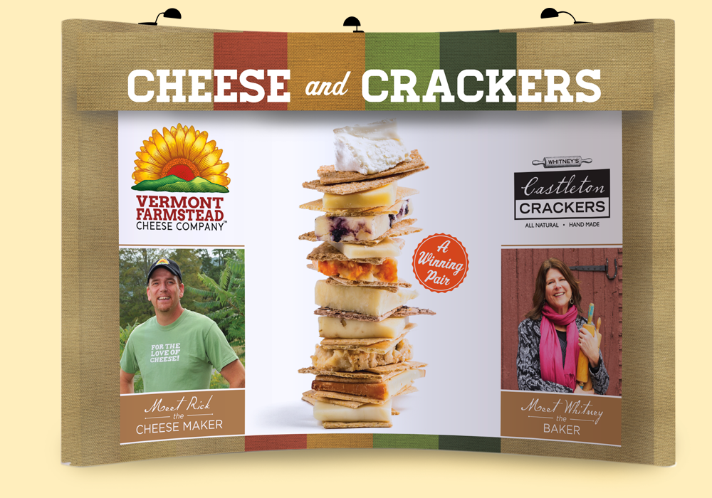 Vermont Farmstead Cheese & Castleton Crackers Trade Show Banner Design