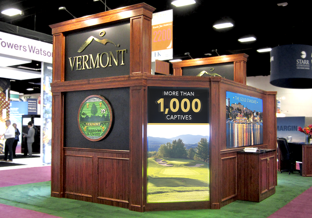 Vermont Captive Insurance Trade Show Booth Design