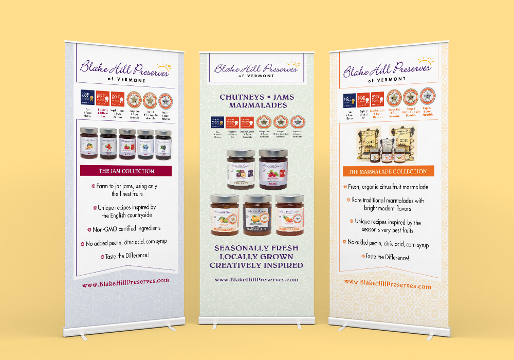 Blake Hill Preserves Trade Show Banner Design