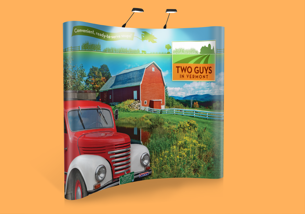 Two Guys in Vermont Trade Show Banner Design