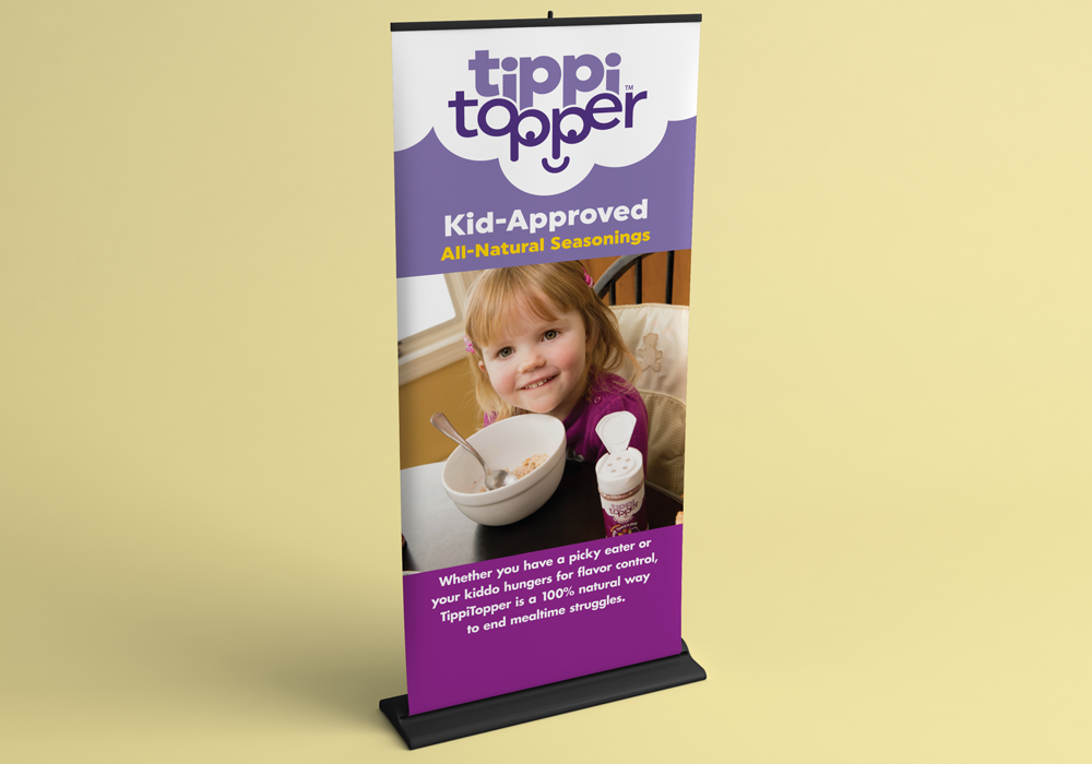TippiTopper Trade Show Banner Design