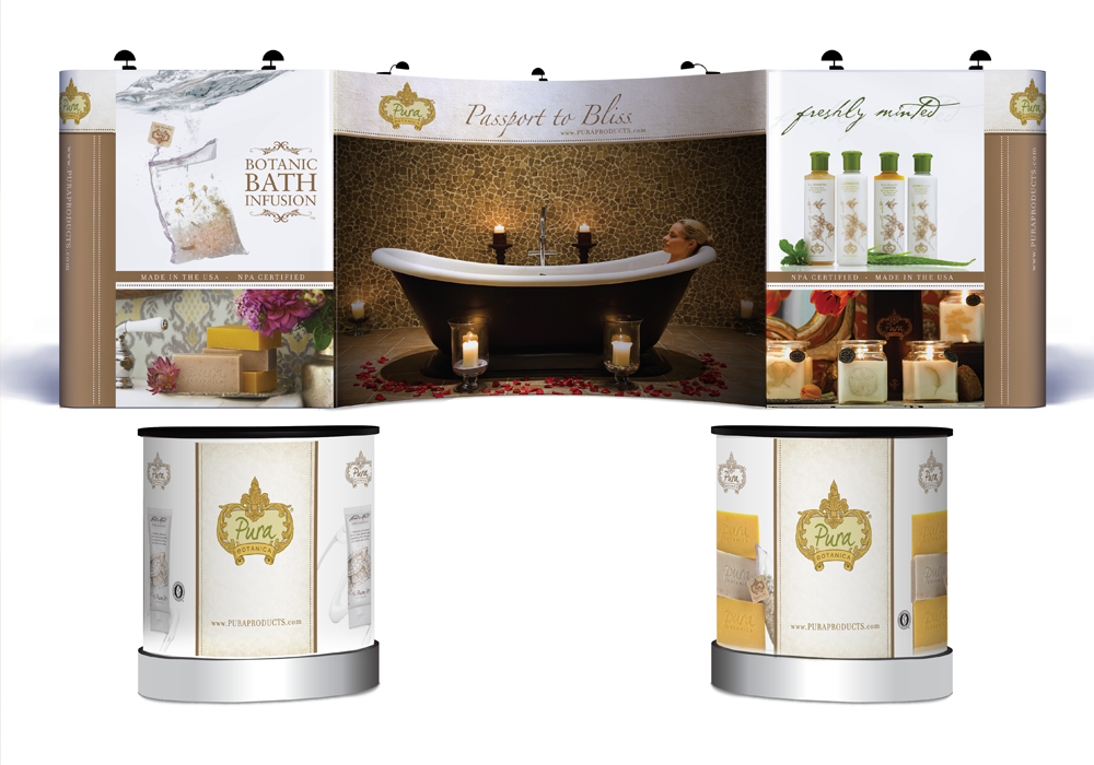 Pura Botanica Trade Show Display Design