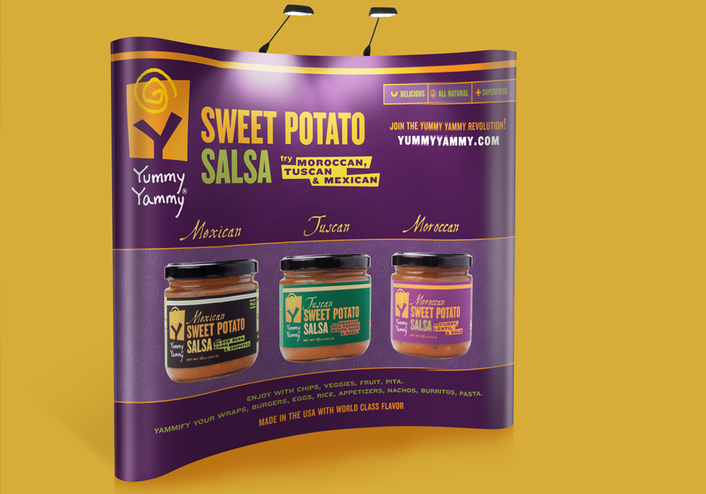 Yummy Yammy Trade Show Banner Design