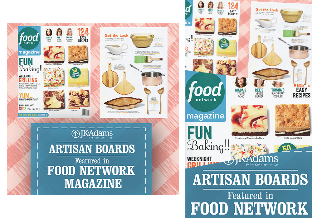 JK Adams Food Network Social Media Graphics