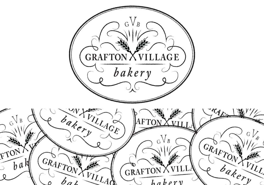 Grafton Village Bakery Logo Design