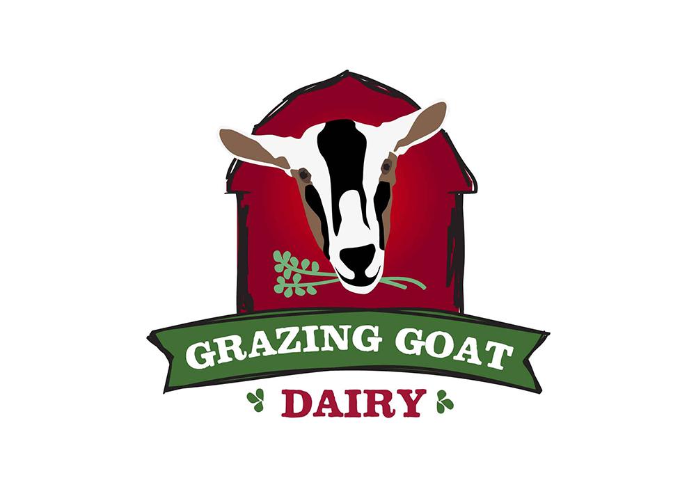 Grazing Goat Dairy Logo Design