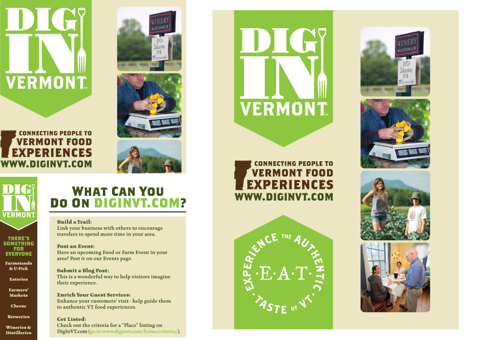 DiginVermont Postcard Design