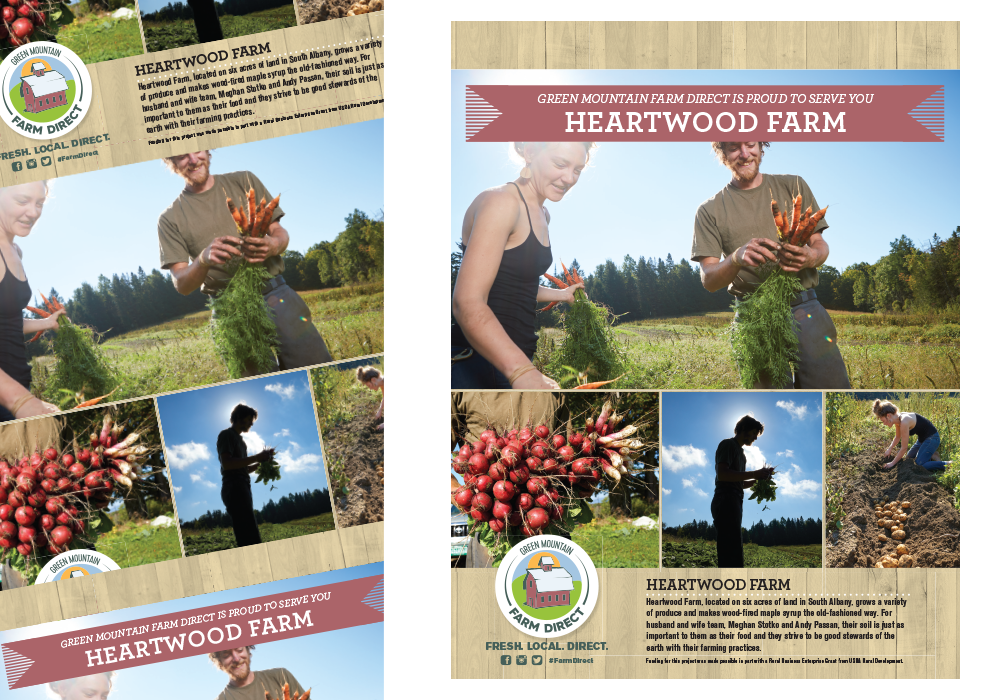 Green Mountain Direct Heartwood Farm Poster