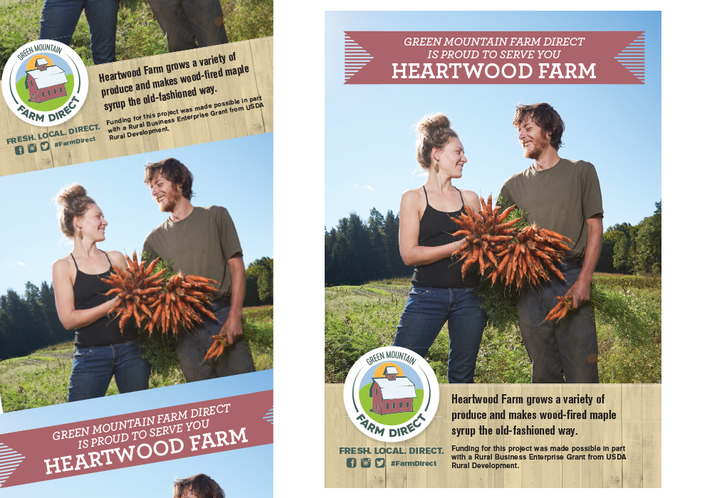 Green Mountain Farm Direct Heartwood Farm Poster