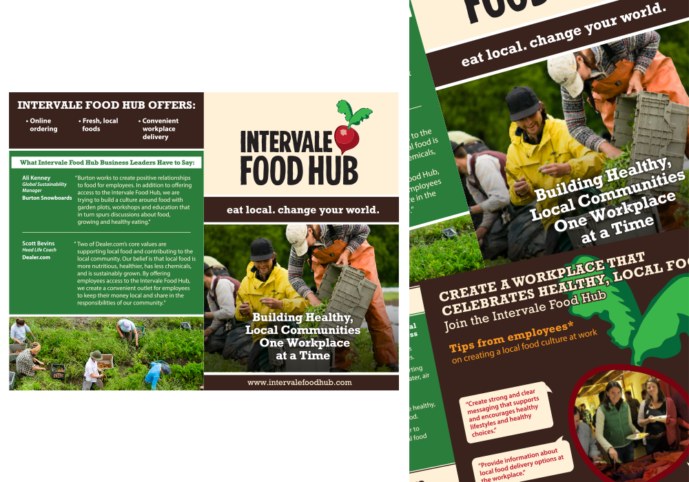 Interval Food Hub Brochure Design
