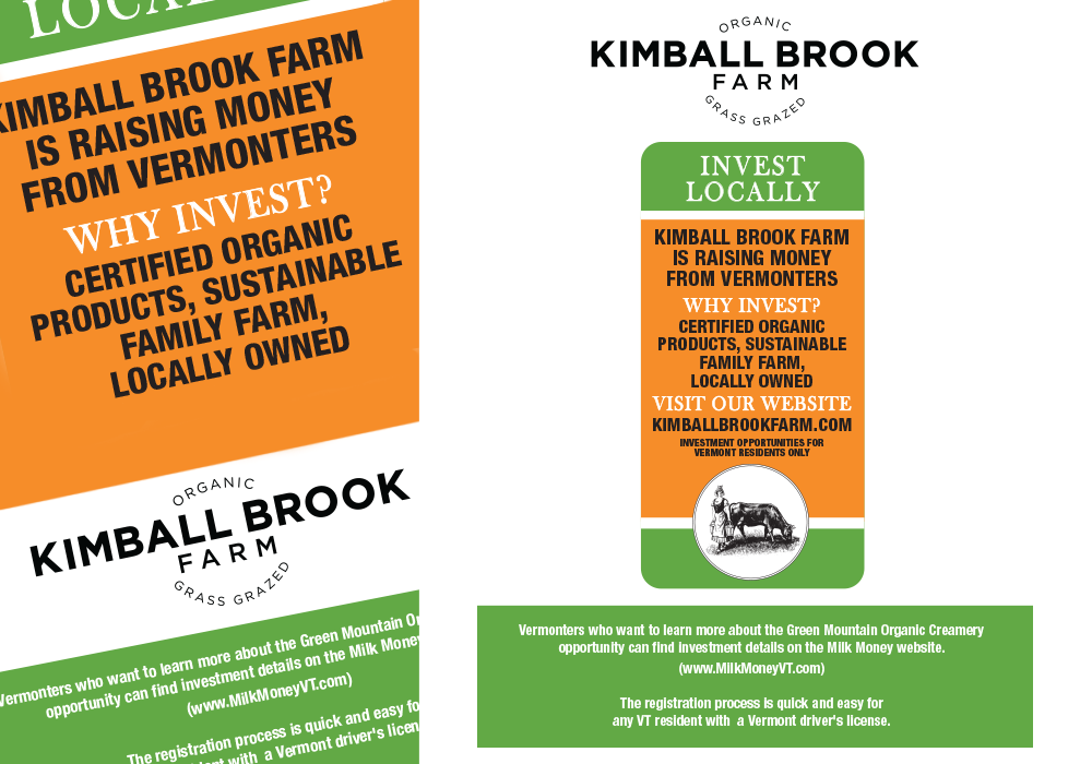 Kimball Brook Farm Poster and Milk Sticker Design
