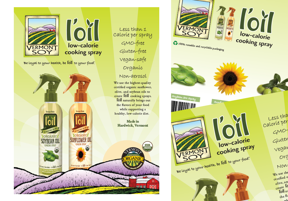 L'oil Cooking Spray Sell Sheet Design
