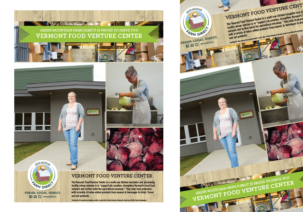 Green Mountain Farm Direct Vermont Food Venture Center Poster Design