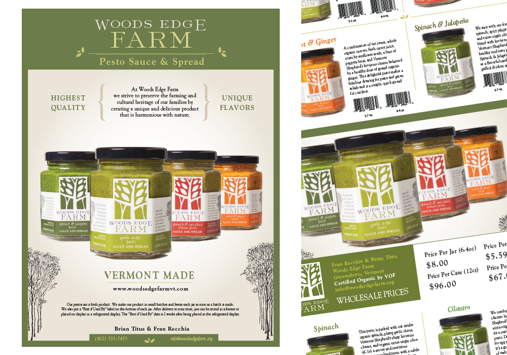 Woods Edge Farm Sell Sheet Design