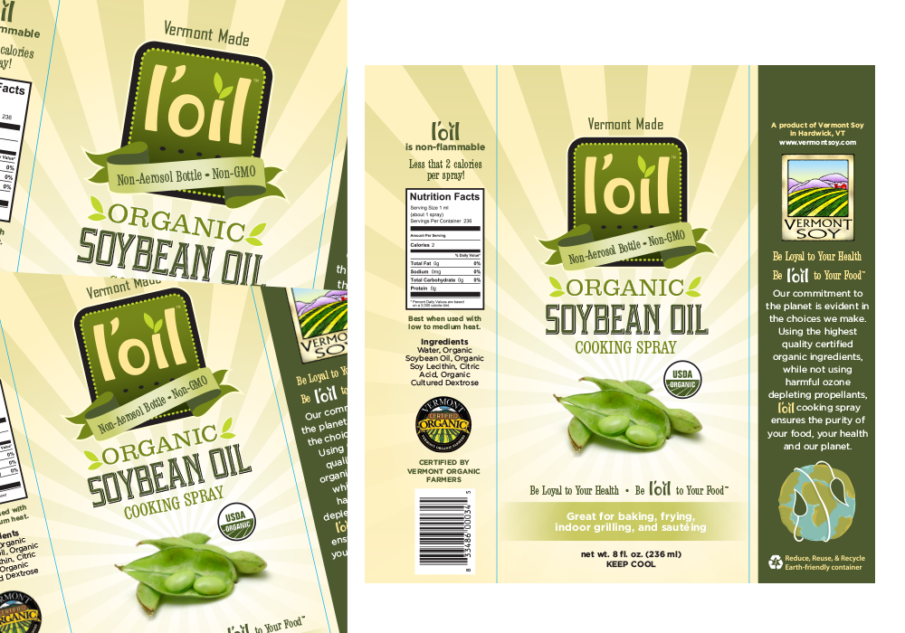 L'oil Organic Soybean Oil Label Design