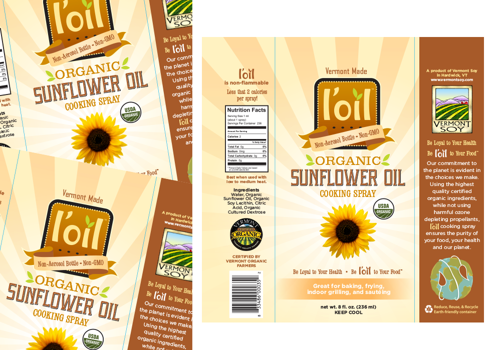 L'oil Organic Sunflower Oil Label Design